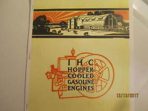 Ihc International Harvester Gas Engine Catalog All Sizes Hit Miss Mags Pumps