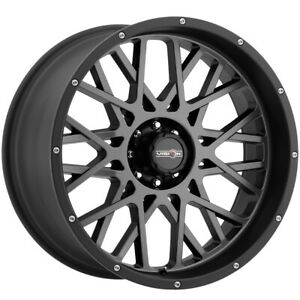 4 Vision 412 Rocker 18x9 5x5 12mm Gunmetal Black Wheels Rims 18 Inch