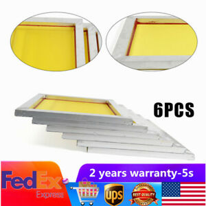 18 X 20 Inch Pre stretched Aluminum Silk Screen Printing Frames 200 Yellow Mesh