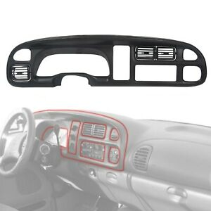 Dash Board Bezel Cover Instrument W vents For 1998 2002 Dodge Ram 1500 2500 3500
