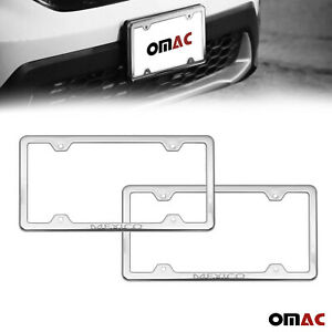 Mexico Print License Plate Frame Chrome S Steel 2 Pcs For Toyota Corolla