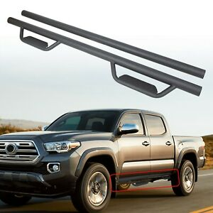 For 05 20 Toyota Tacoma Double Crew Cab 3 Drop Running Board Nerf Bar Side Step