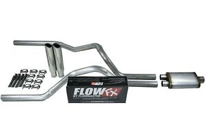 Chevy Gmc 1500 Truck 99 06 2 5 Dual Exhaust Kits Flowmaster Flow Fx Clamp Tip