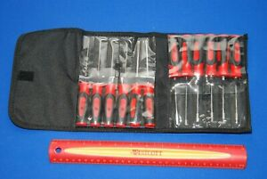 New Snap On Mini Soft Grip Pick Awl Screwdriver Torx Set In Kit Bag Sgmini12ar