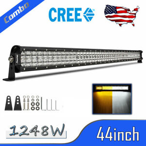44inch 1344w Led Light Bar Combo Offroad Driving Ute Ford Atv Suv Truck Pk 42 48