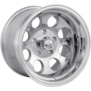 4 16x10 Polished Alloy Ion Style 171 8x6 5 38 Rims Lt285 75r16 Tires