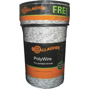 Gallagher Electric Fence Poly Wire Combo Roll G620300 1 Each
