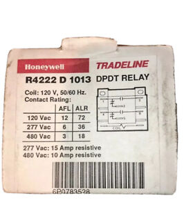 Honywell Genuine R4222d1013 General Purpose Relay 120volt Coil Dpdt Switching
