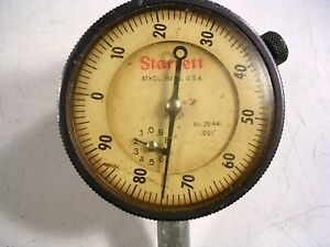 Starrett Dial Indicator 25 441 2 Face 001 With Mounting Ring