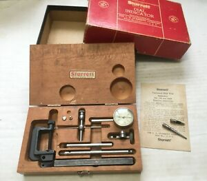 Nice Starrett No 196a Dial Test Indicator With Both Boxes