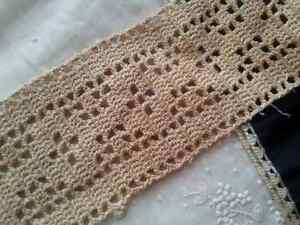 Antique Lace Trim Wide Edging Doll Vintage Sewing Clothing Crafts Diy 36