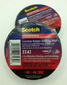Scotch 2242 Linerless Rubber Splicing Tape 15 X 3 4 X 030 Free Shipping