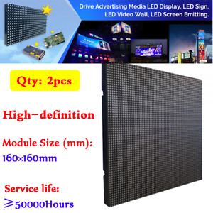 2pcs Indoor Led Display P2 5 64x64 Rgb Smd 3 In 1 Plain Color Inside Led Matrix
