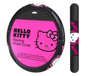 New Sanrio Hello Kitty Collage Car Truck Synthetic Leather Steering Wheel Cover