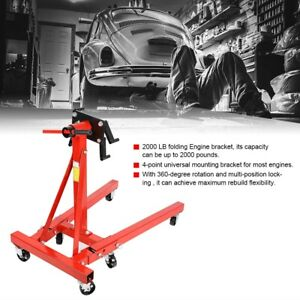 Universal Foldable Swivel Car Engine Hoist Mount Stand Bracket Hold Fitting Red