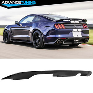 Fits 15 21 Ford Mustang 2dr Coupe Gt500 Style Trunk Spoiler Wing Gloss Black Abs