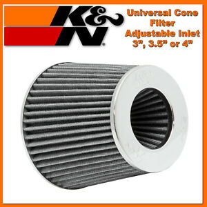 K n 3 To 4 Universal Air Intake Cone Filter Chrome Truck Suv Car Round 3 5
