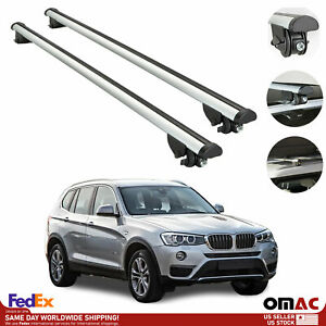 Roof Rack Cross Bars Luggage Carrier Silver For Bmw X3 F25 2011 2017