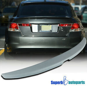 For 2008 2012 Honda Accord 4dr Unpainted Abs Plastic Rear Trunk Spoiler Wing