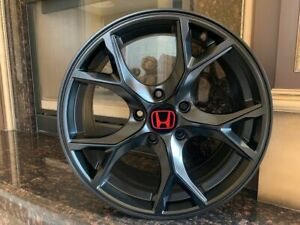 17 R Style Rims Satin Black Fits Honda Civic Si Ex Lx Accord Crv Acura Tsx Ilx