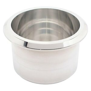 Small Billet Aluminum Bright Clear Protective Fusioncoat Drink Cup Holder