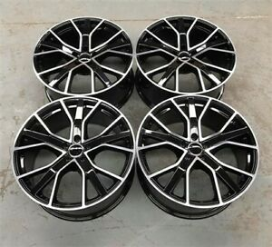 Set 4 19 19x8 5 Rs7 Type Black Wheels Audi A5 S4 S5 Q3 A4 A6 Q5 Jetta 5x112