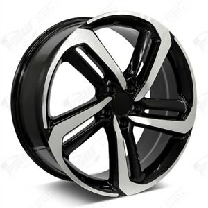 Set 4 19 19x8 5x114 3 Black Wheels Honda Accord Ex Lx Coupe Sedan Civic 5 Lug