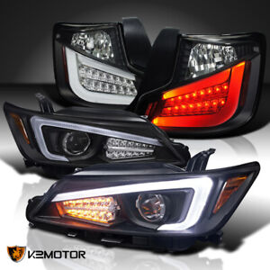 For 2011 2013 Scion Tc Black Led Drl Signal Bar Projector Headlights tail Lamps