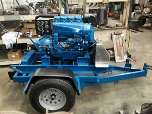 Towable Deutz 4 Cyl Diesel Engine Power Unit With Nacd Pto Manual Clutch 220 Hrs