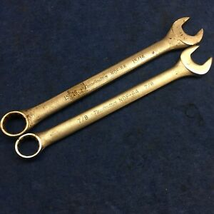 lot Of 2 New Britain Combination Wrench Ndf 64 7 8 And Ndf 66 15 16