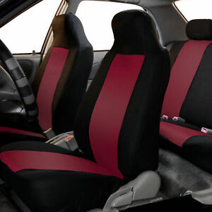 Highback Front Bucket Seat Covers Pair For Auto Car Truck Suv Burgundy
