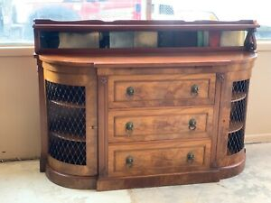 Antique Mahogany Dining Sideboard Buffet Vintage Furniture