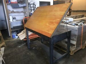Vintage Mayline Drafting Table Standup Desk High Top Table