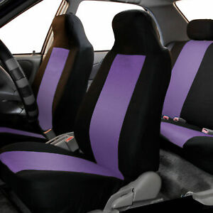 Highback Front Bucket Seat Covers Pair For Auto Car Suv Truck Purple