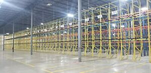 10000 Pallet Positions Structural 2 deep Push Back Pallet Racking 16 27 High