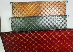 Embossed Metal Decorative Hanging Collapsible Colored Double File Folder 16x10in