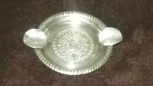 Vintage Plat Mex 925 Sterling Silver Aztec Calendar Ash Tray