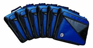Case it Universal 2 inch 3 ring Zipper Binder Holds 13 Inch Laptop Case Of 4