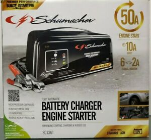 Schumacher 50 Amp Sc1361 Fully Automatic Battery Charger Engine Starter 12 Volt