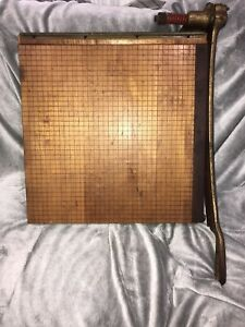 Ingento Solid Maple 18 Paper Cutter In Great Condition Vintage No 5 1 2