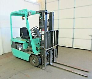 Mitsubishi 3 000 Lb Capacity Electric 3 wheel Forklift Id n 012