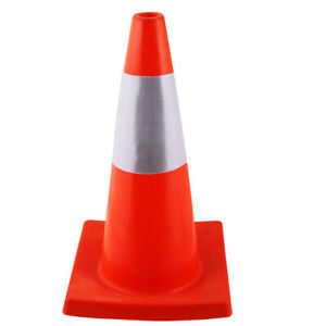 Road Traffic Cones Safety Parking Cones With Fluorescent Reflective Strip Pvc