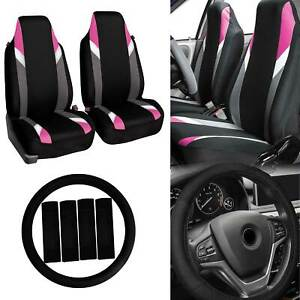 Highback Car Seat Covers Bucket Seats For Auto W Accessories Pink Black