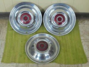 51 52 53 54 Packard Cloisonne Hub Caps 15 Set Of 2 Hubcaps 1951 1952 1953 1954
