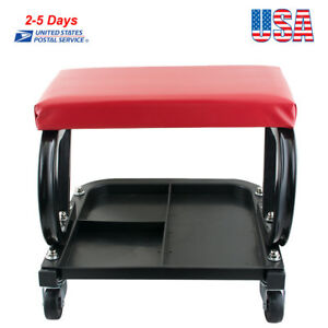 Usps Mechanics Padded Creeper Trolley Seat Car Van Garage Tool Workshop Stool
