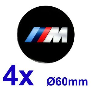 4pcs Set Bmw m Silicone Stickers For Wheel Centre Cap Hubs 60mm