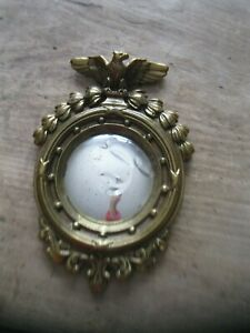 Antique Small 9 Eagle Bullseye Convex Mirror