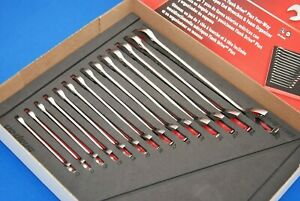 New Snap On 14 Pc Metric Flank Drive Plus Four Way Angle Head Wrench Set In Foam
