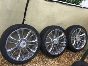 24 Inch Wheels And And New Tires For Cadillac Escalade Platinum quantity 3