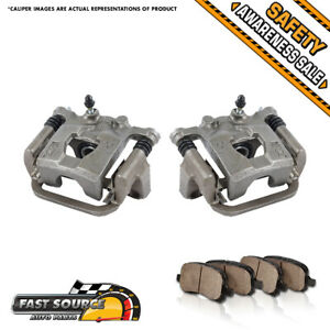 For Nissan Maxima Altima Rear Quality Oe Brake Calipers And Ceramic Pads Pair